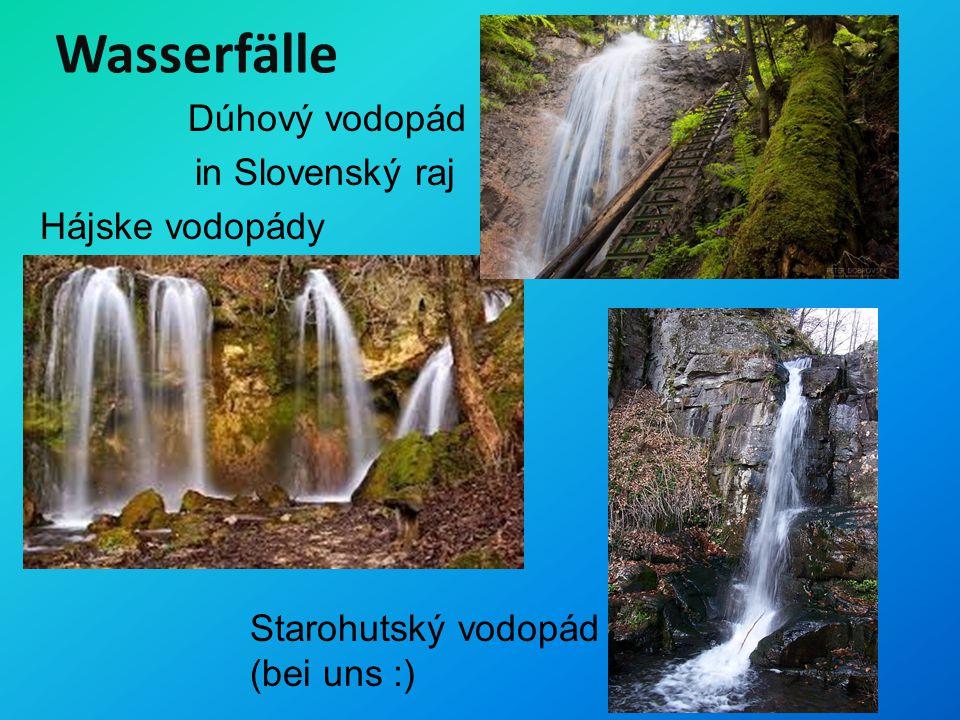 Wasserfälle Dúhový vodopád in Slovenský raj Hájske vodopády