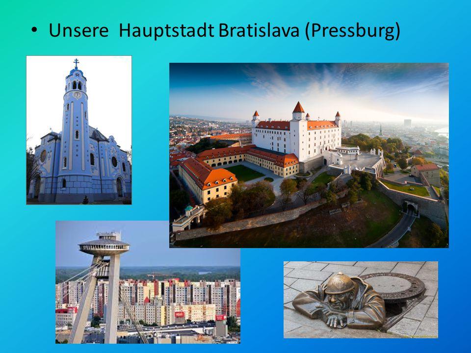 Unsere Hauptstadt Bratislava (Pressburg)