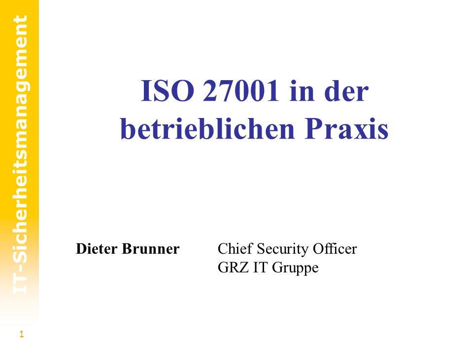 ISO 27001 in der betrieblichen Praxis
