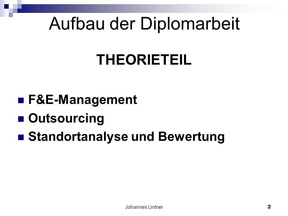 Aufbau der Diplomarbeit