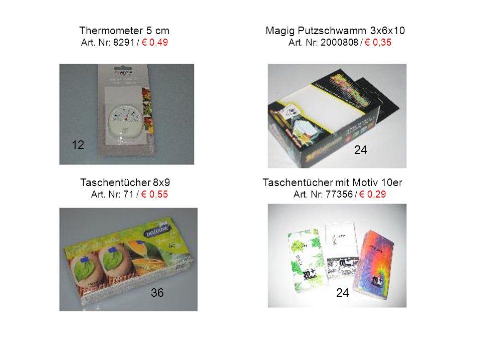 12 24 36 24 Thermometer 5 cm Magig Putzschwamm 3x6x10