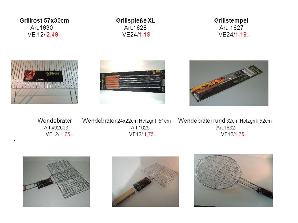 Grillrost 57x30cm Grillspieße XL Grillstempel Art. 1630 Art. 1628 Art