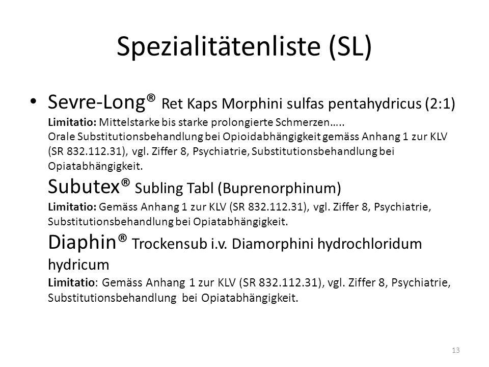 Spezialitätenliste (SL)