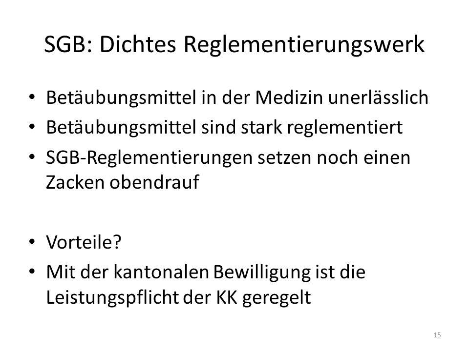 SGB: Dichtes Reglementierungswerk