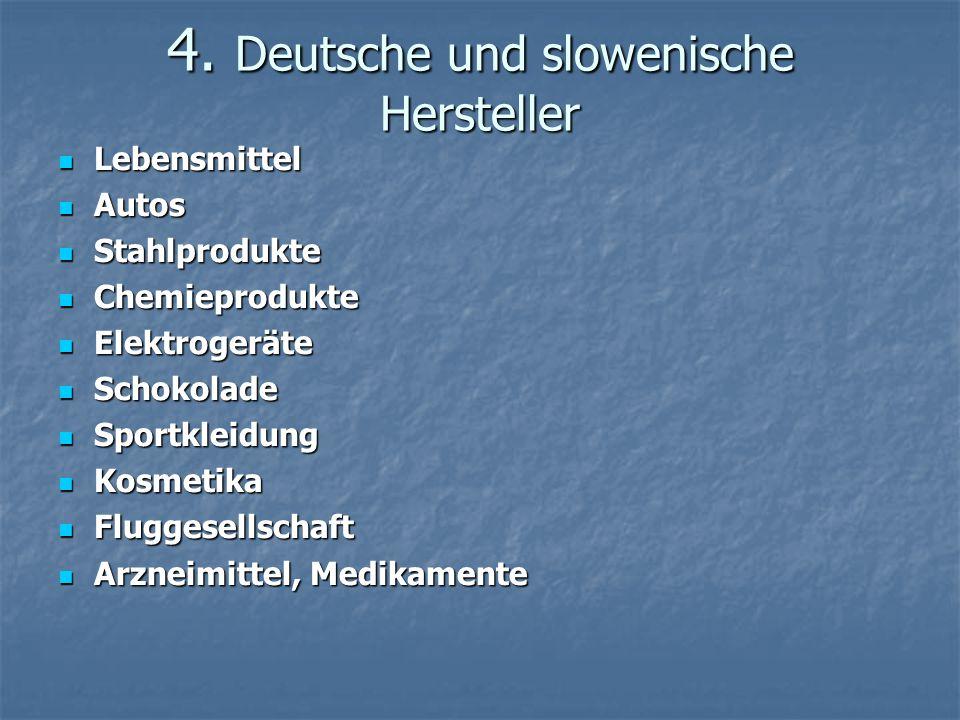 4. Deutsche und slowenische Hersteller