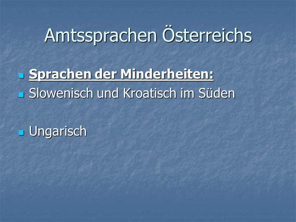 Amtssprachen Österreichs