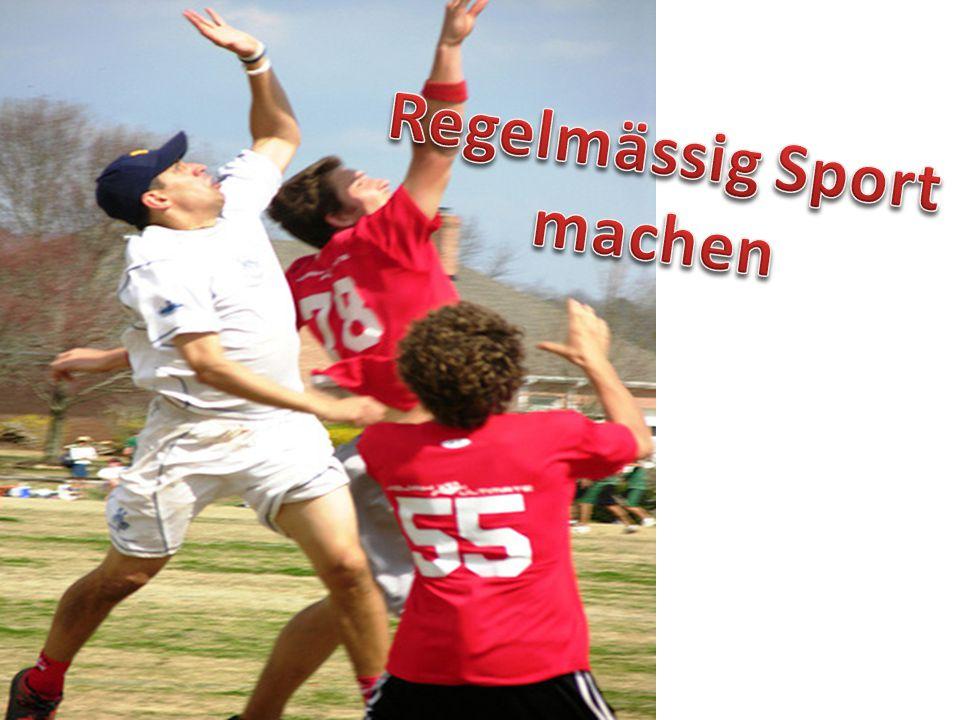 Regelmässig Sport machen