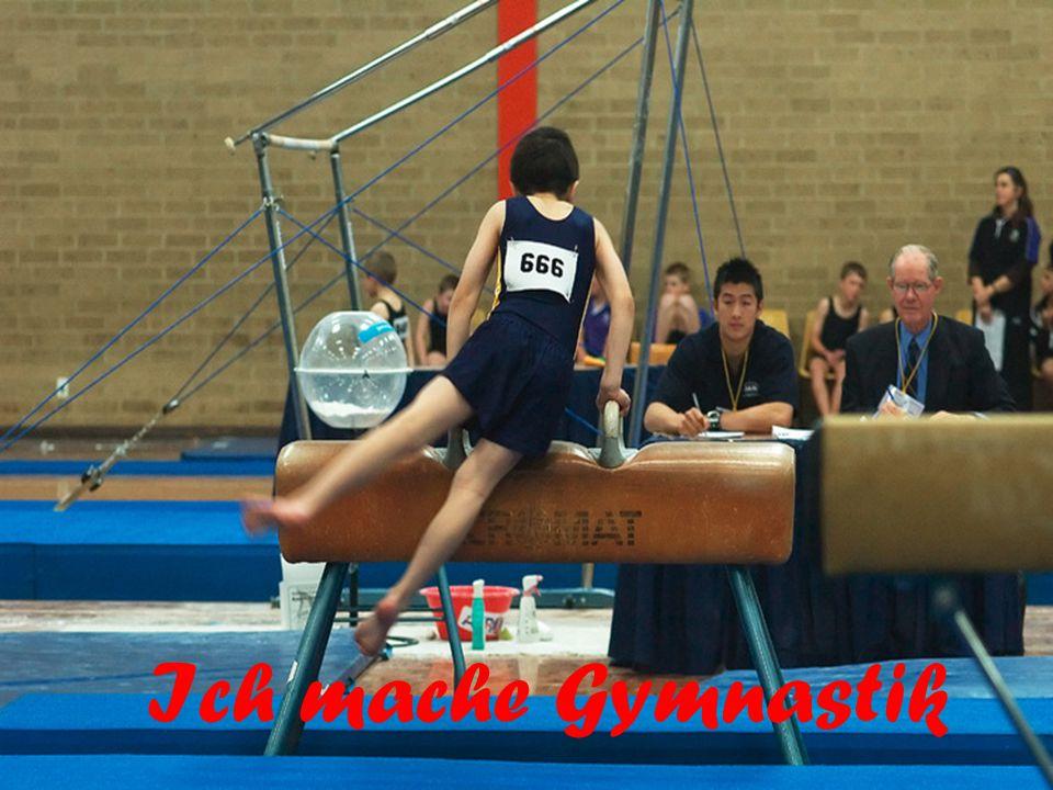 Ich mache Gymnastik