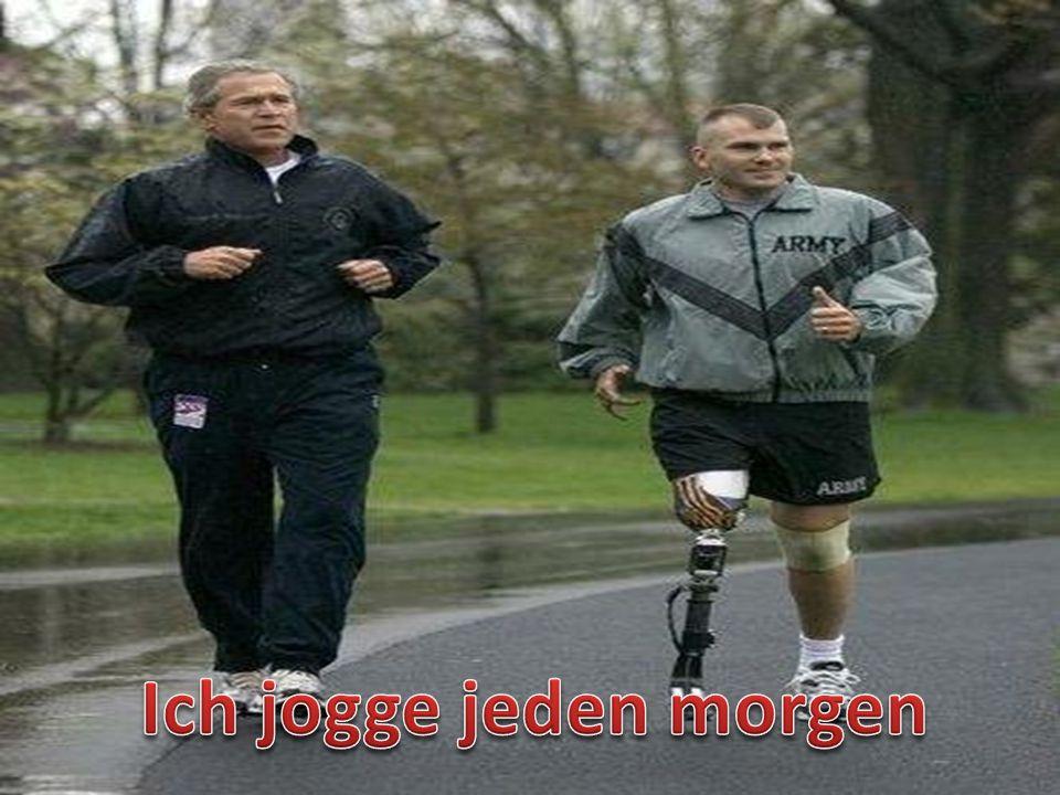 Ich jogge jeden morgen