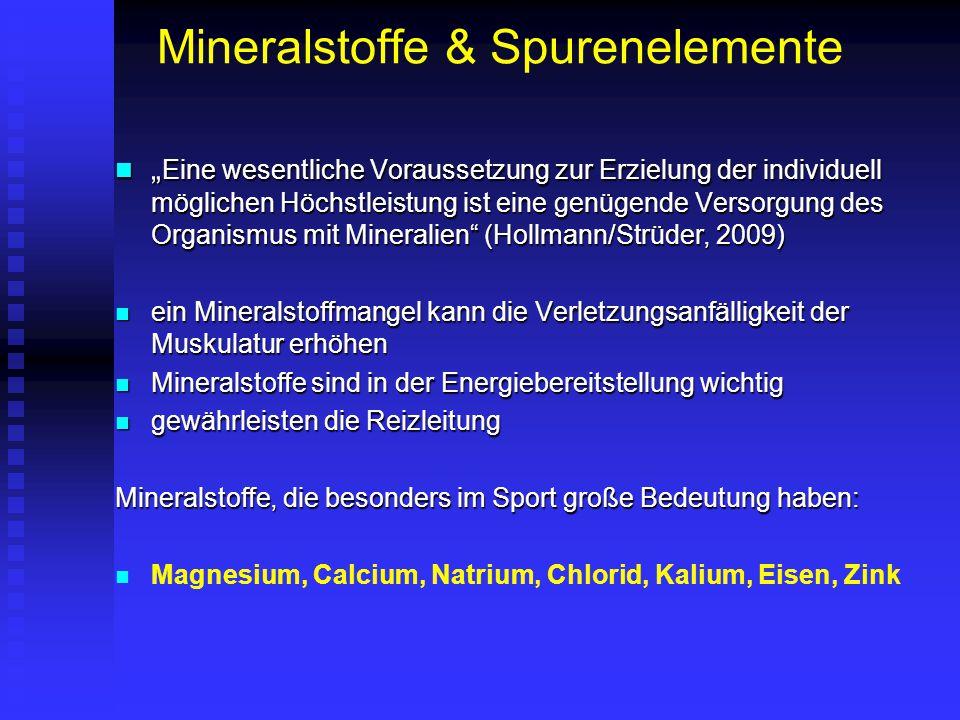 Mineralstoffe & Spurenelemente