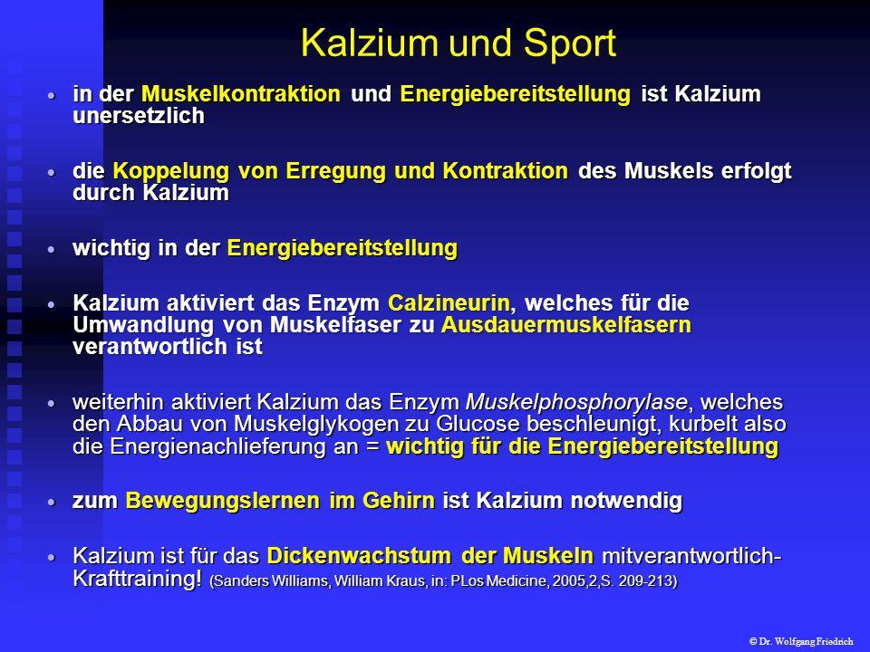 Kalzium und Sport in der Muskelkontraktion und Energiebereitstellung ist Kalzium unersetzlich.