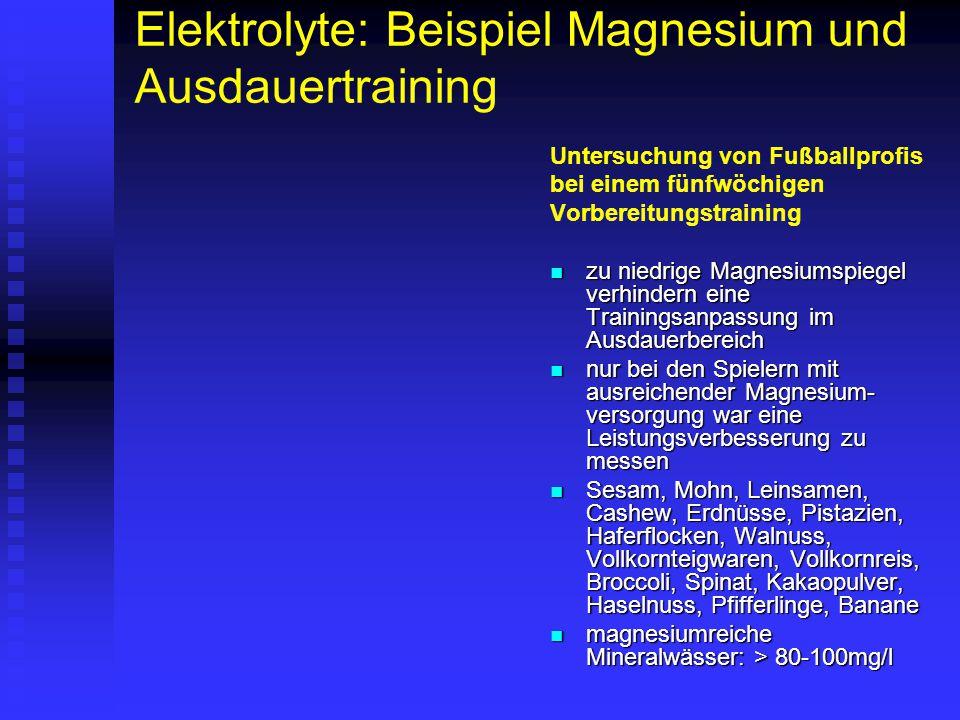 Elektrolyte: Beispiel Magnesium und Ausdauertraining