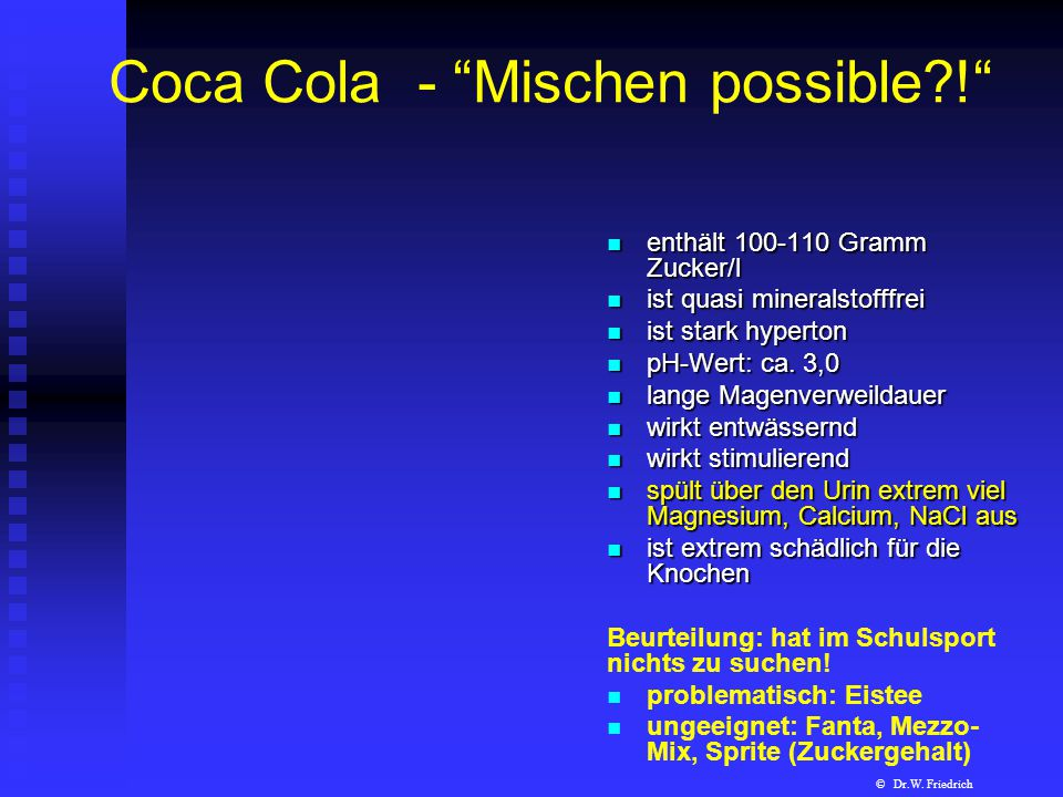 Coca Cola - Mischen possible !