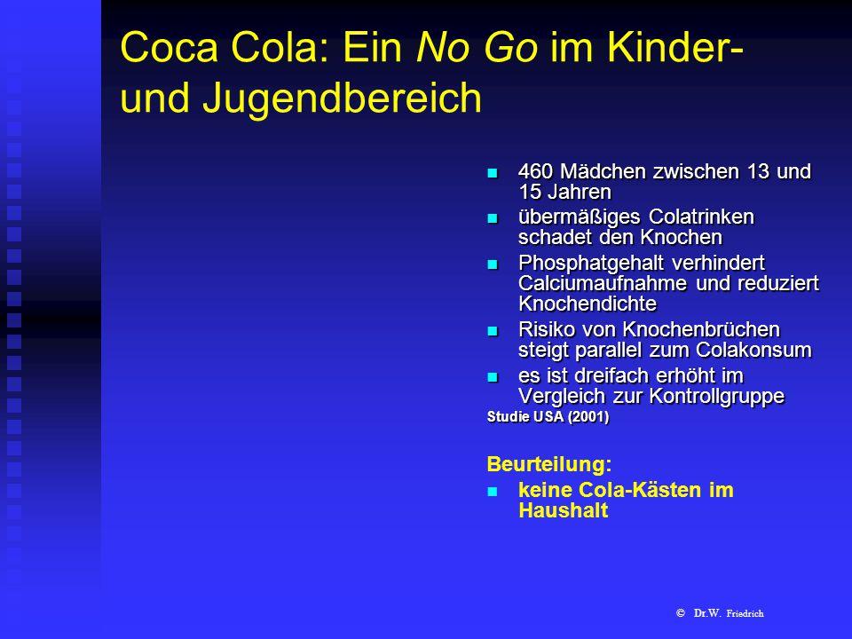 Coca Cola: Ein No Go im Kinder- und Jugendbereich