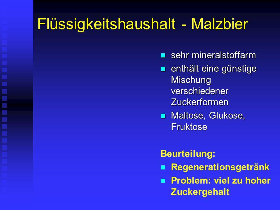 Flüssigkeitshaushalt - Malzbier