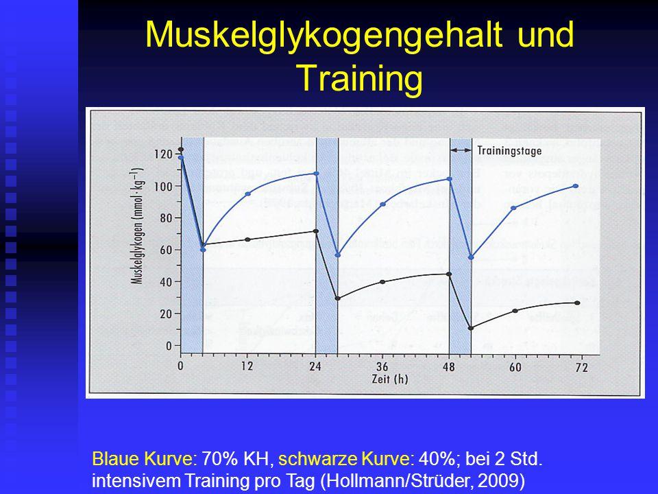 Muskelglykogengehalt und Training