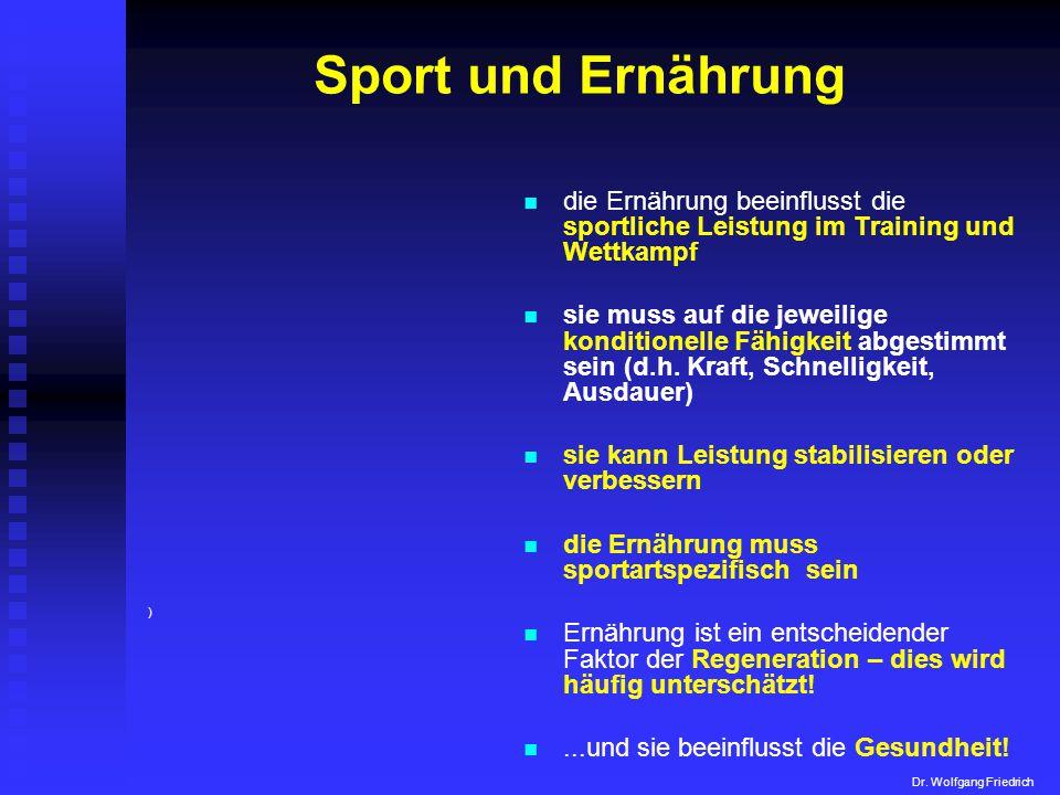 Sport und Ernährung die Ernährung beeinflusst die sportliche Leistung im Training und Wettkampf.