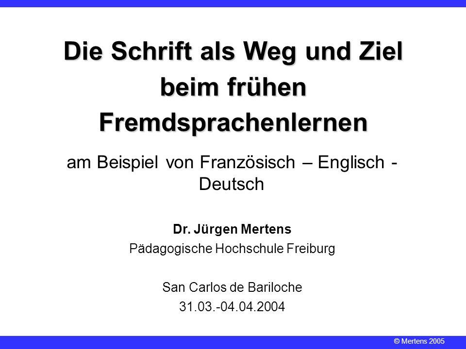 Die Schrift als Weg und Ziel beim frühen Fremdsprachenlernen
