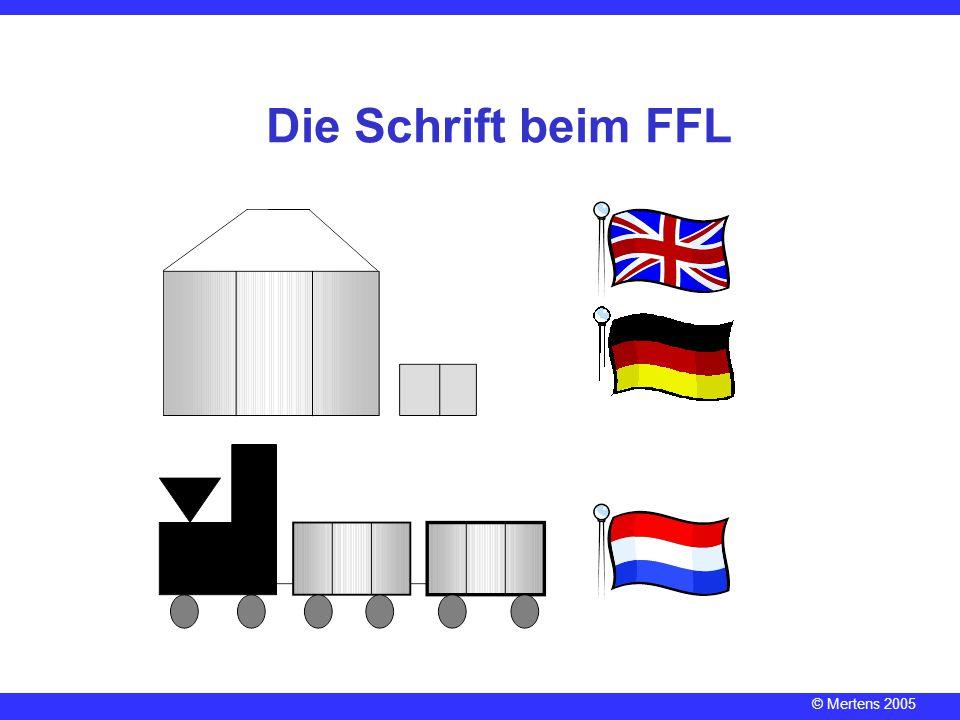 Die Schrift beim FFL Reime als Hörhilfe (--> KLICKEN)