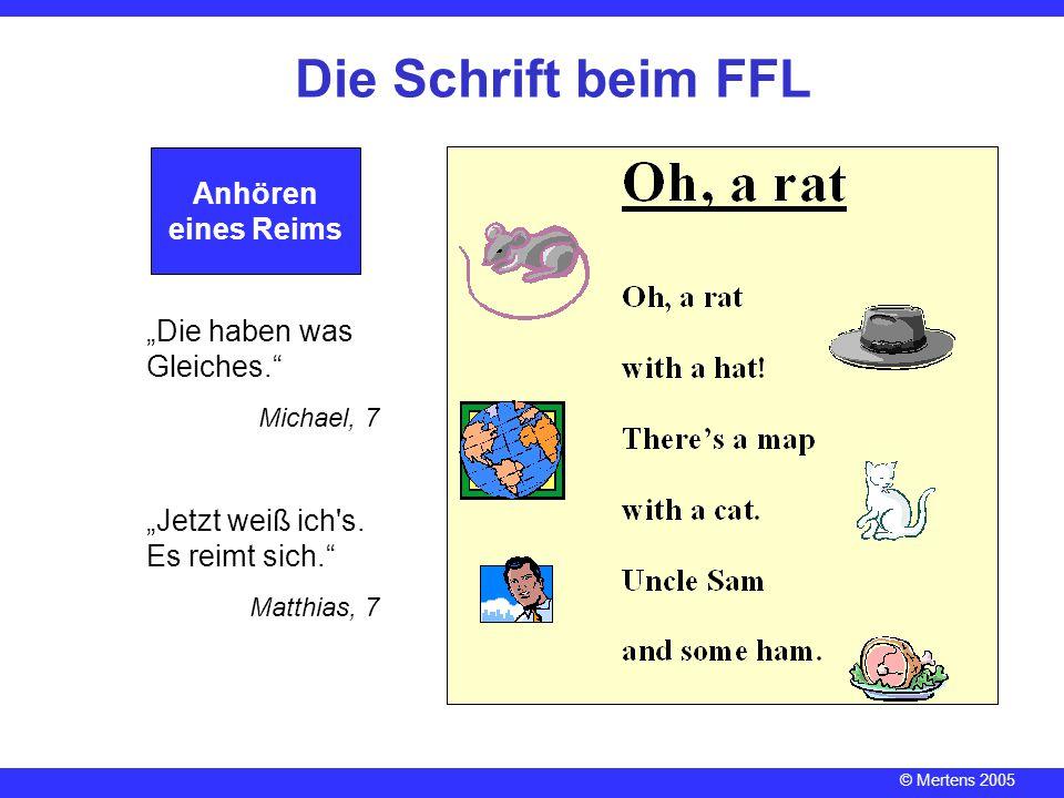 """Die Schrift beim FFL Anhören eines Reims """"Die haben was Gleiches."""