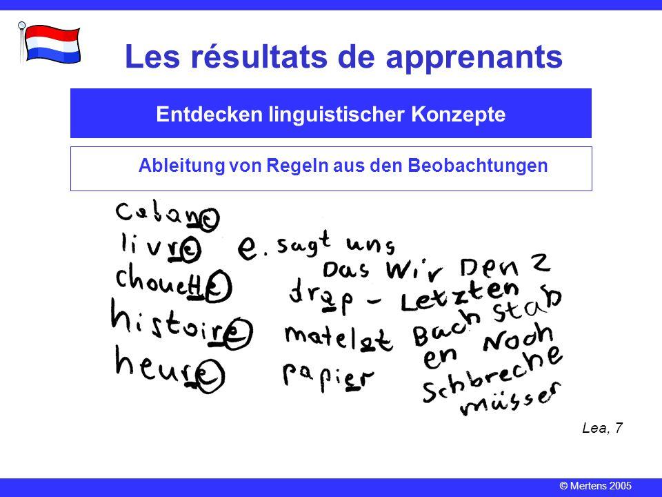 Les résultats de apprenants