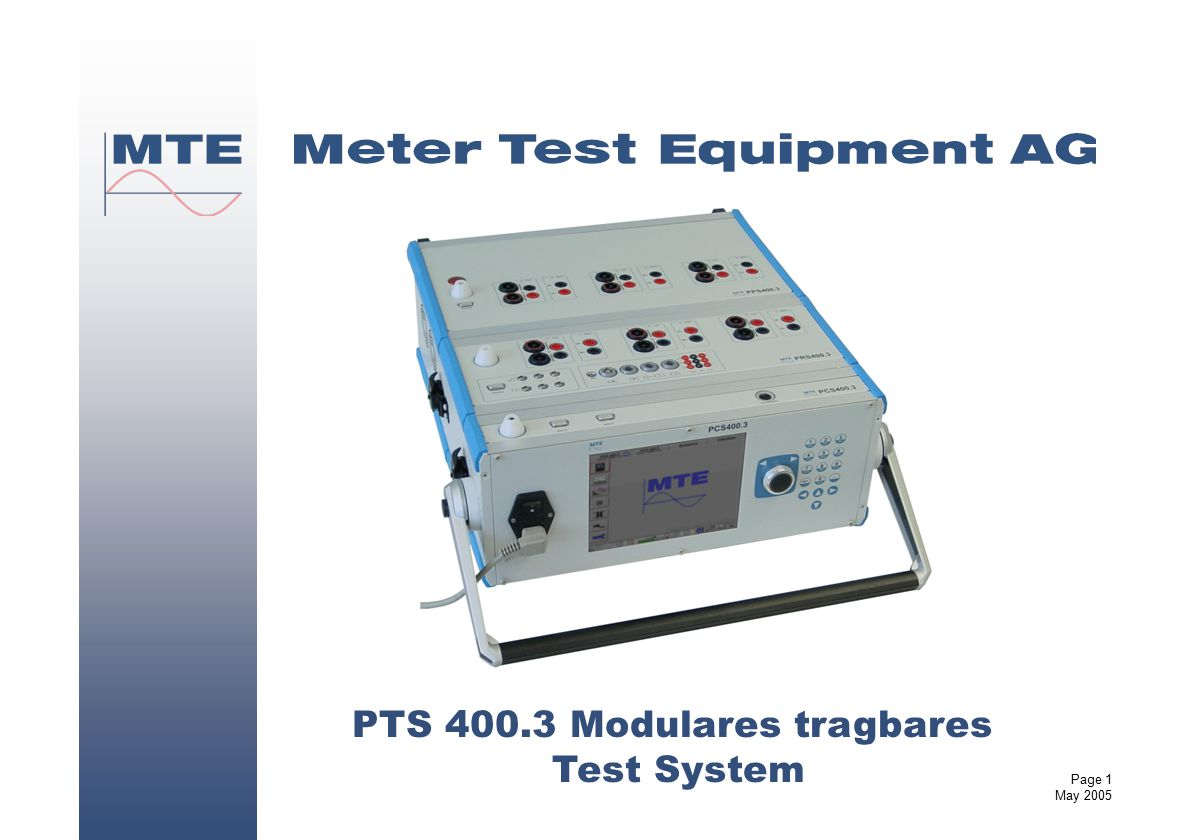 PTS 400.3 Modulares tragbares Test System