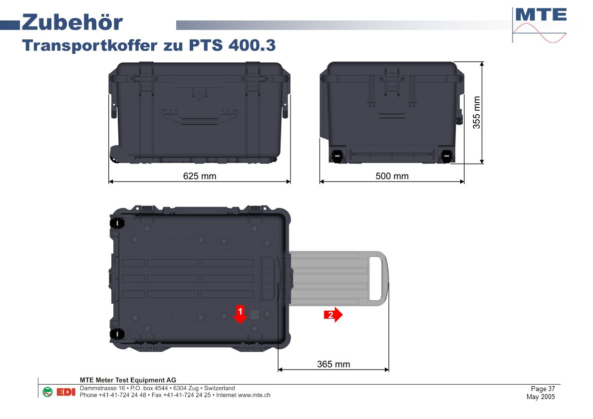 Zubehör Transportkoffer zu PTS 400.3