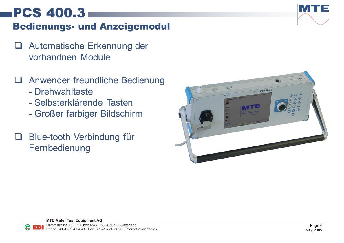PCS 400.3 Bedienungs- und Anzeigemodul