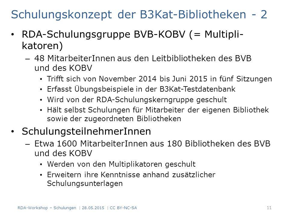 Schulungskonzept der B3Kat-Bibliotheken - 2