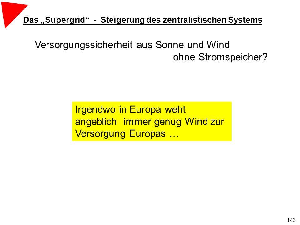 """Das """"Supergrid - Steigerung des zentralistischen Systems"""
