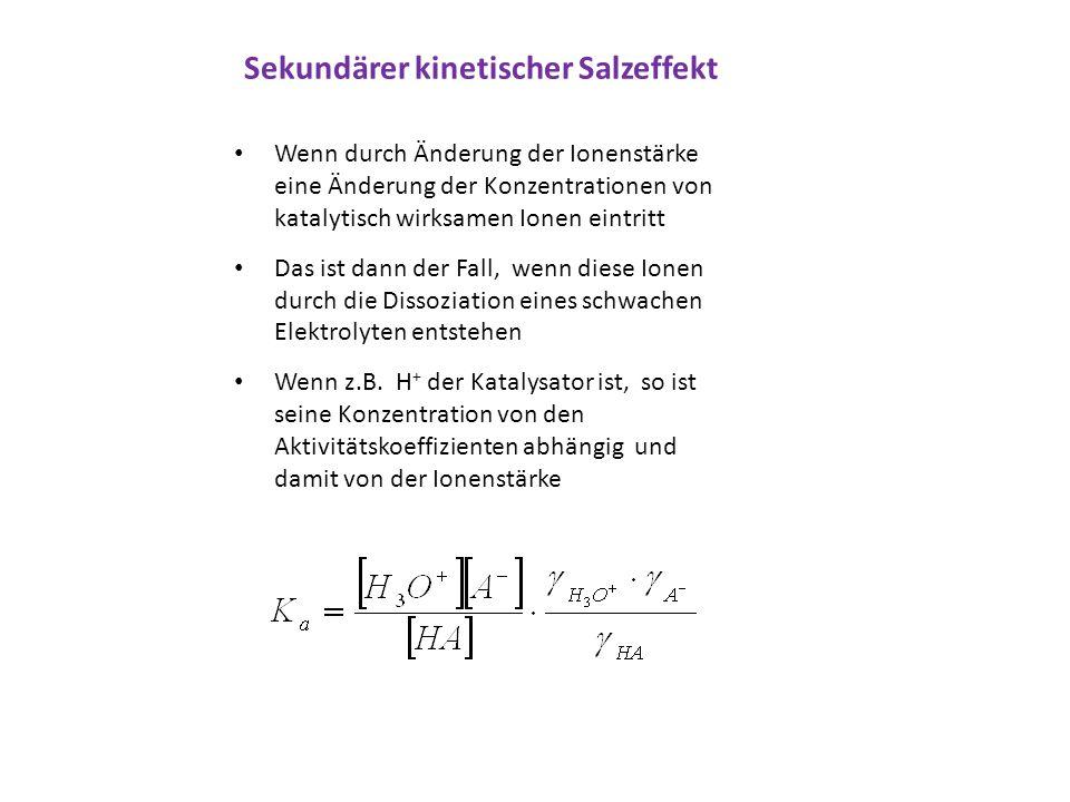 Sekundärer kinetischer Salzeffekt