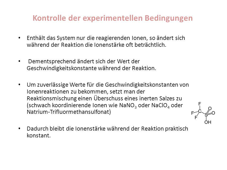 Kontrolle der experimentellen Bedingungen