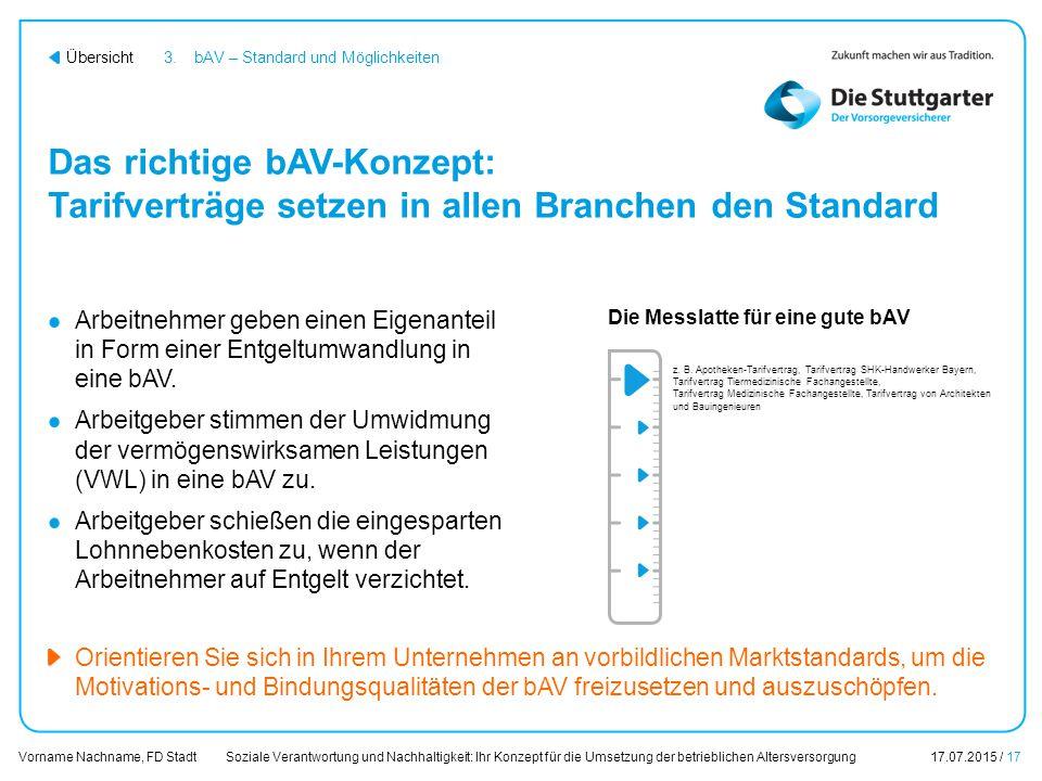 3. bAV – Standard und Möglichkeiten