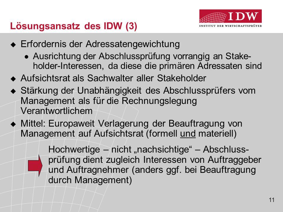 Lösungsansatz des IDW (3)