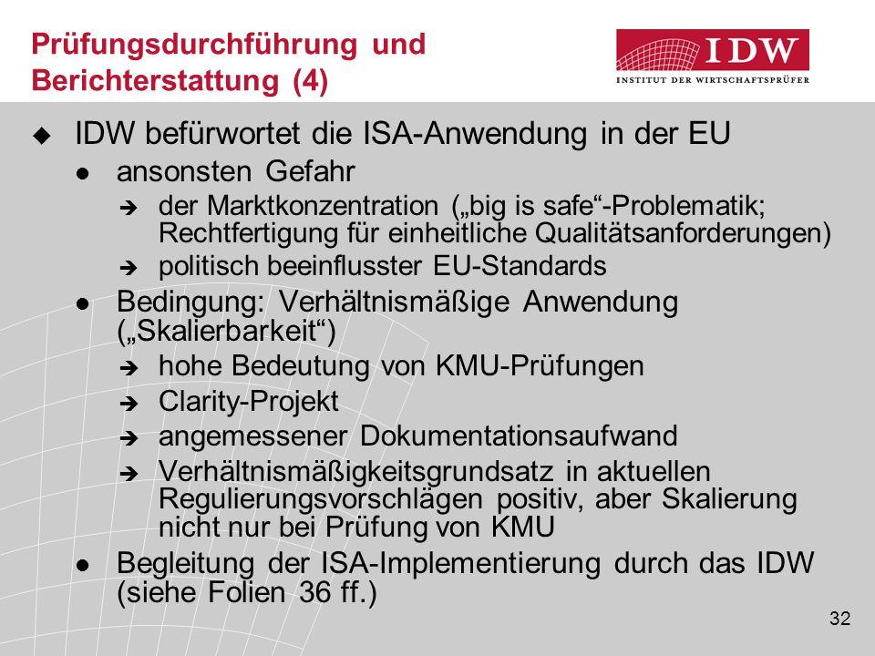 Prüfungsdurchführung und Berichterstattung (4)