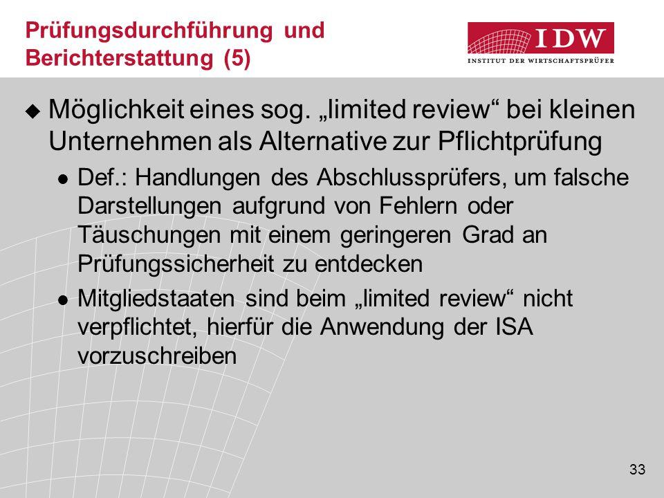 Prüfungsdurchführung und Berichterstattung (5)