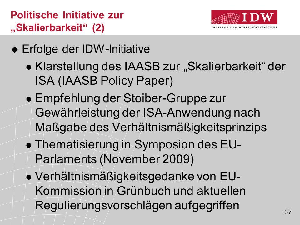 """Politische Initiative zur """"Skalierbarkeit (2)"""