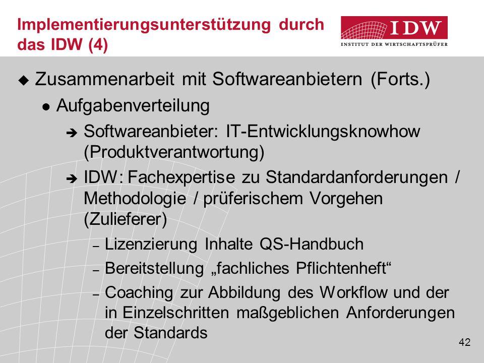Implementierungsunterstützung durch das IDW (4)