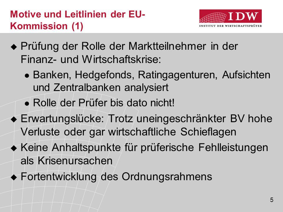 Motive und Leitlinien der EU-Kommission (1)
