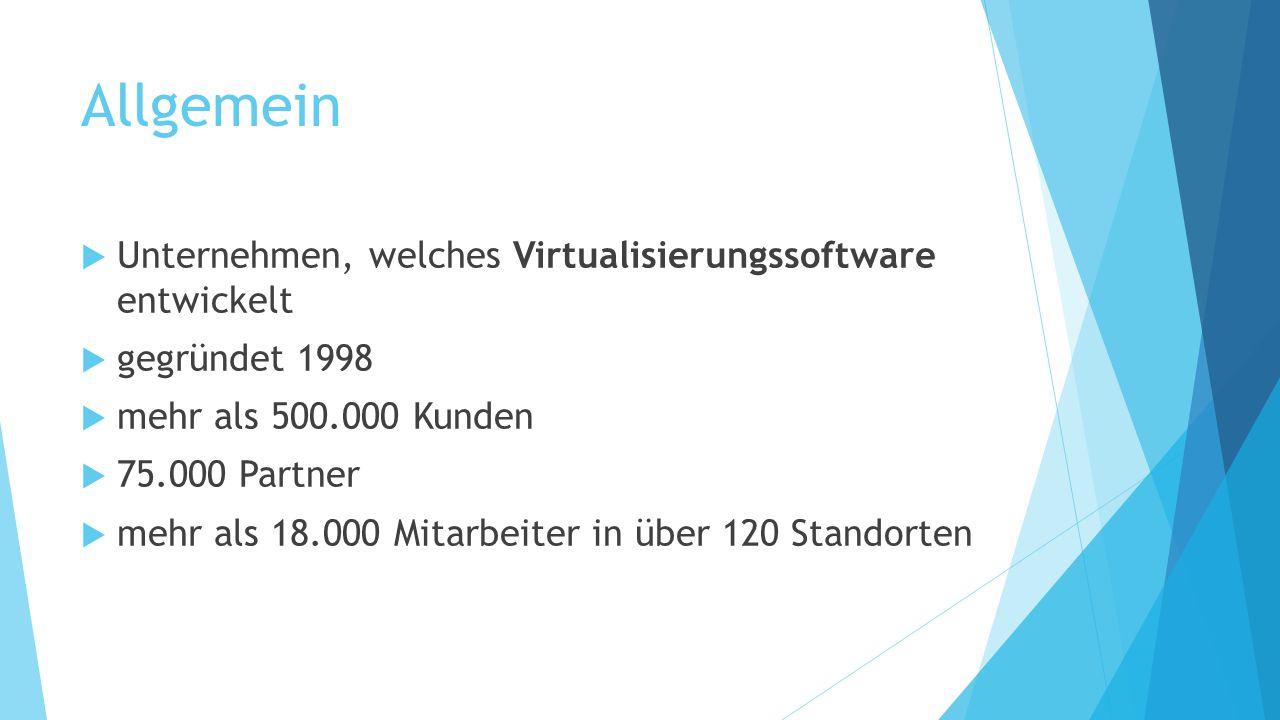 Allgemein Unternehmen, welches Virtualisierungssoftware entwickelt