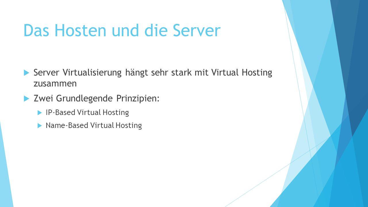 Das Hosten und die Server