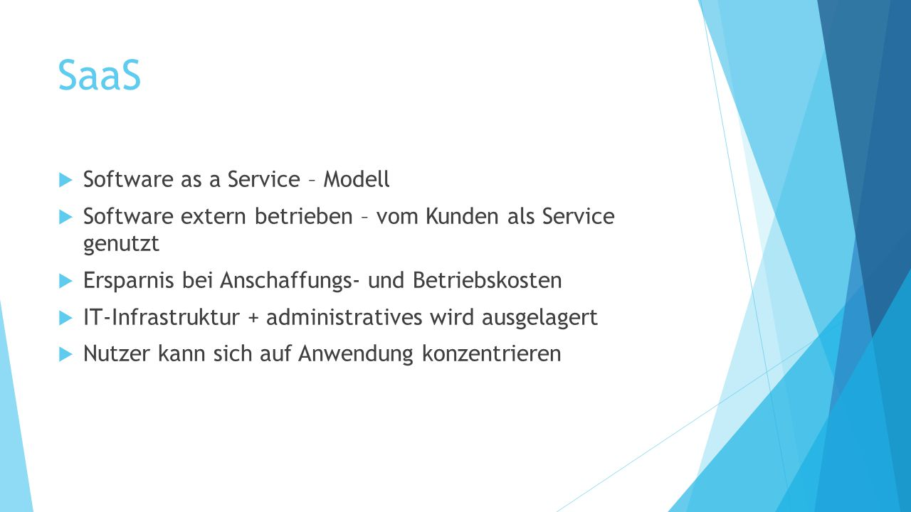 SaaS Software as a Service – Modell