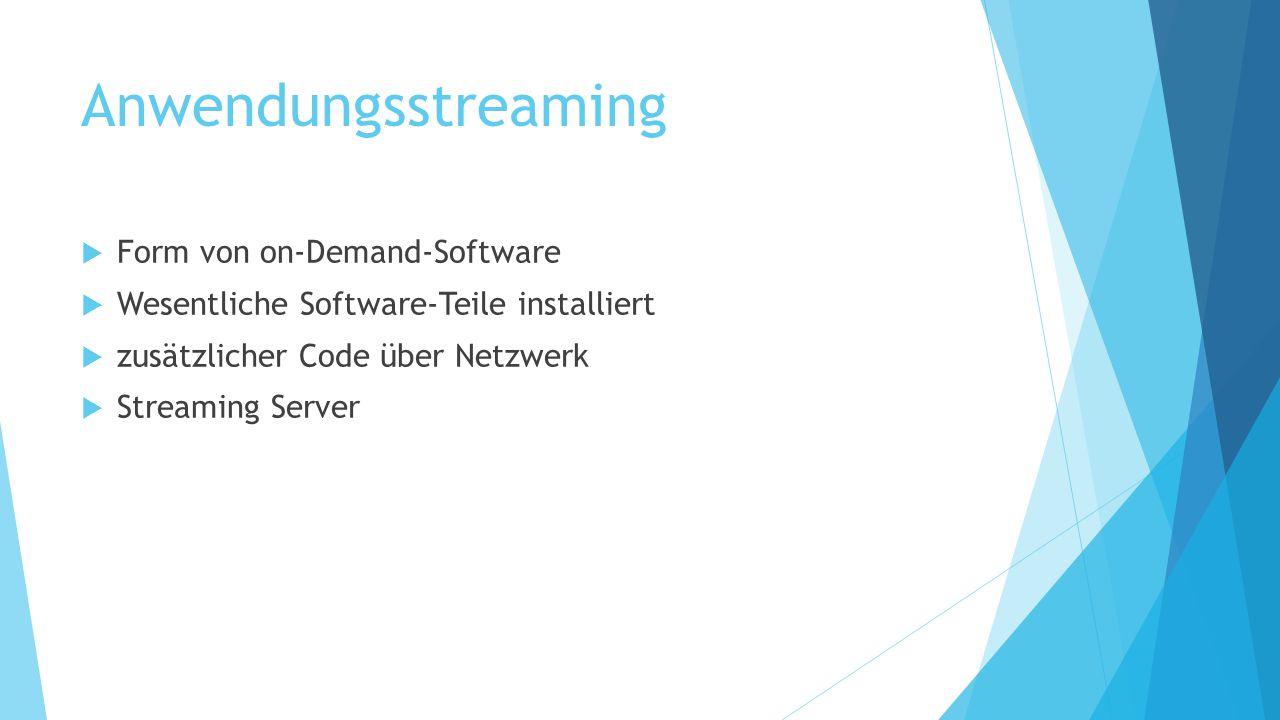 Anwendungsstreaming Form von on-Demand-Software