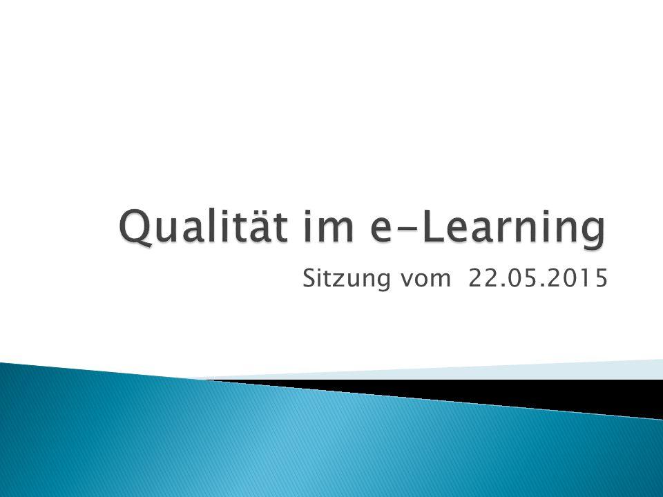 Qualität im e-Learning