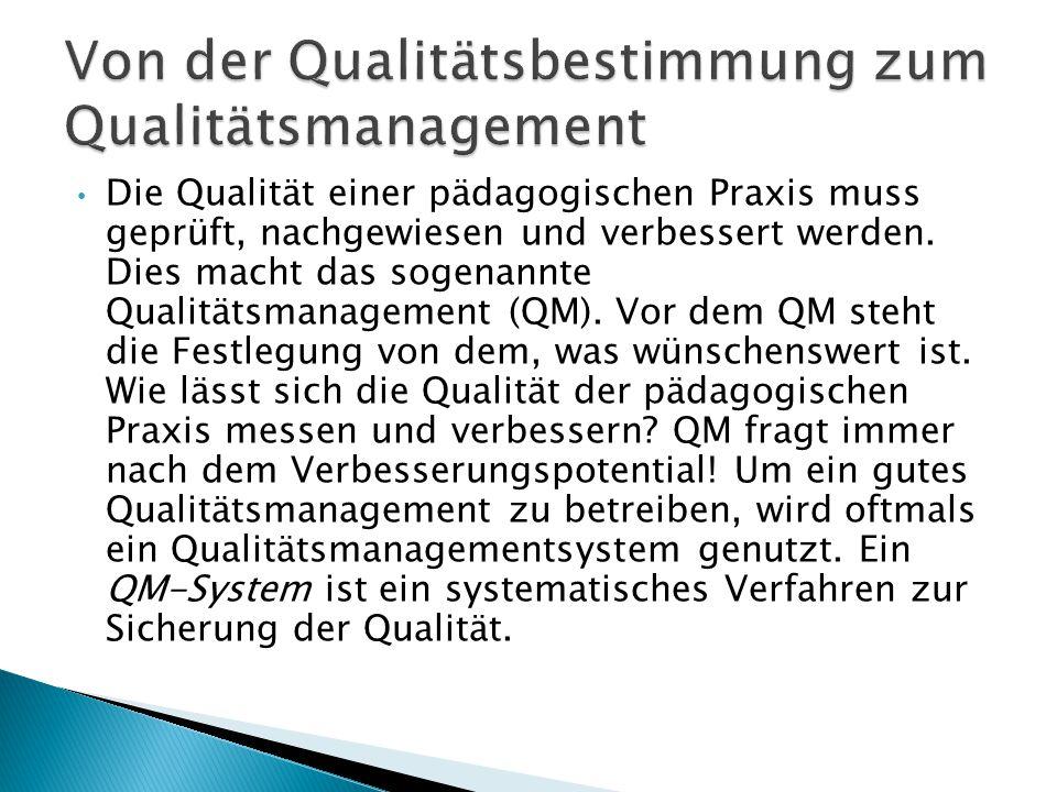Von der Qualitätsbestimmung zum Qualitätsmanagement