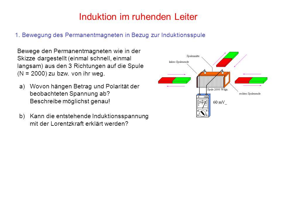 Induktion im ruhenden Leiter
