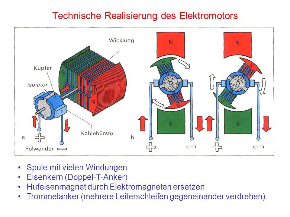 Technische Realisierung des Elektromotors