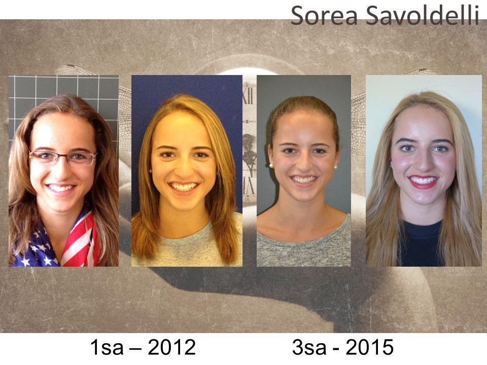 Sorea Savoldelli 1sa – 2012 3sa - 2015