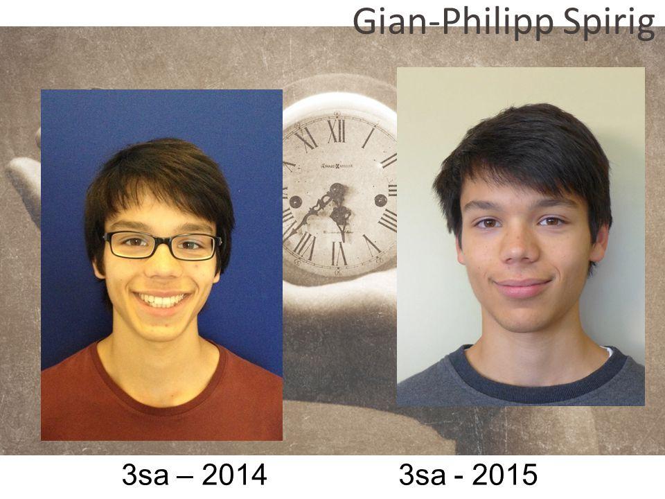 Gian-Philipp Spirig 3sa – 2014 3sa - 2015