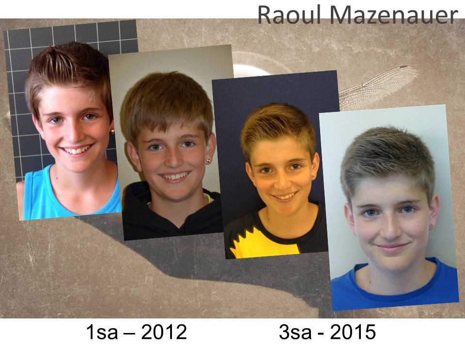 Raoul Mazenauer 1sa – 2012 3sa - 2015